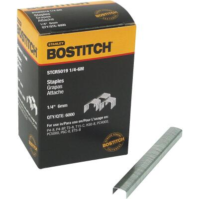 Bostitch Powercrown Hammer Tacker Staple, 1/4 In. (6000-Pack)