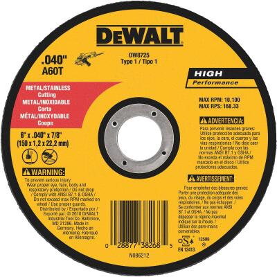 DeWalt HP Type 1, 6 In. Cut-Off Wheel