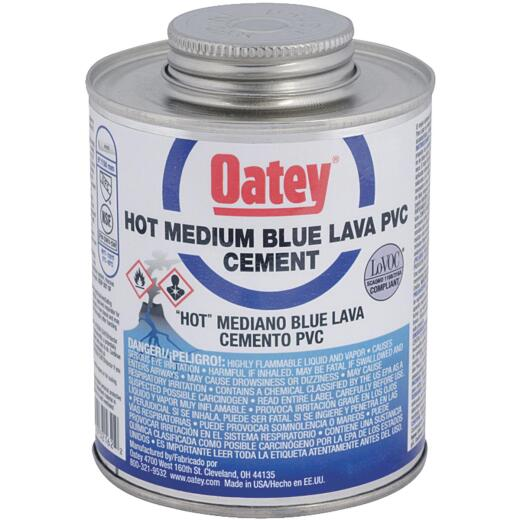 Oatey 1 Pt. Blue Lava Hot PVC Cement