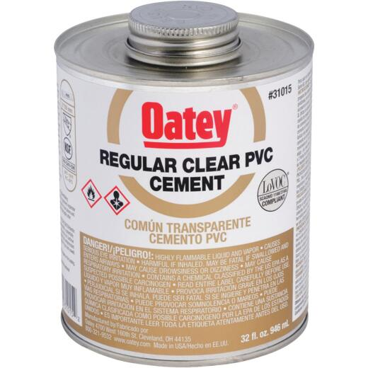 Oatey 32 Oz. Regular Bodied Clear PVC Cement