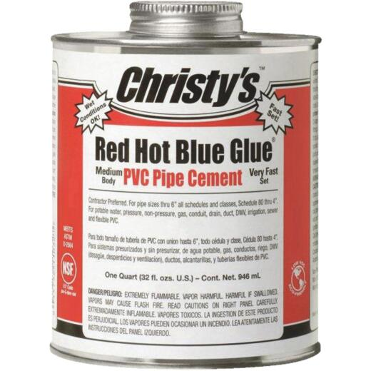 Christy's 32 Oz. Low VOC Setting Blue PVC Cement