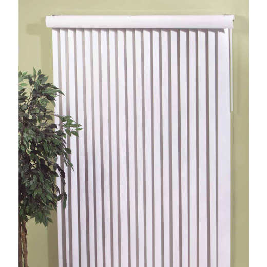 Home Impressions 66 In. x 84 In. Alabaster Vinyl Vertical Blinds