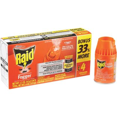 Raid Concentrated Deep Reach 1.5 Oz. Indoor Insect Fogger (4-Pack)