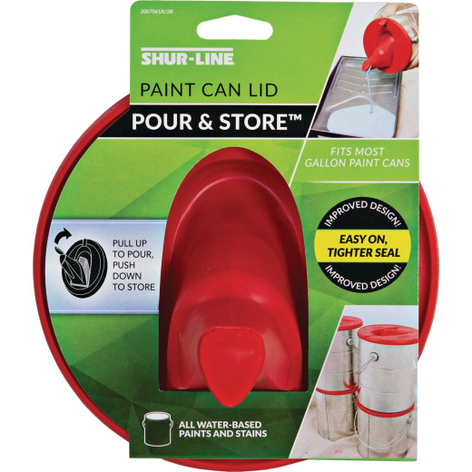 Shur-Line 1 Gallon 6.75 in. Red Lid