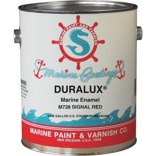 DURALUX Gloss Marine Enamel,Signal Red, 1 Gal.