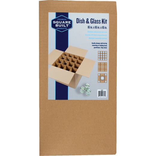 Square Built Cardboard Dividers Kitchenware Moving and Storage Kit